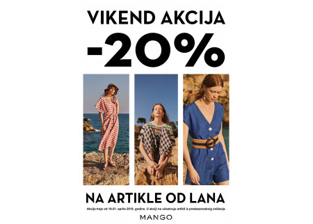 MANGO Vikend akcija -20% na lanenu kolekciju