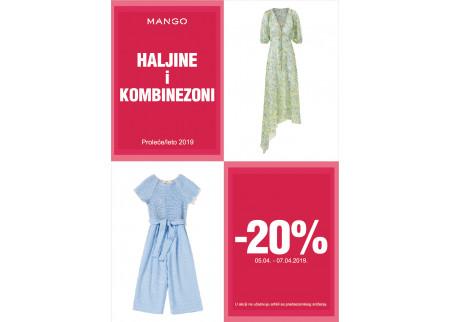 MANGO vikend akcija - Haljine i kombinezoni - 20%