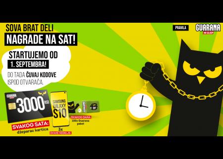 Guarana nagradna igra 2019 - Sova brat deli nagrade na sat