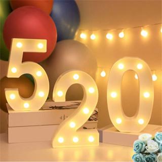 3D svetleći brojevi