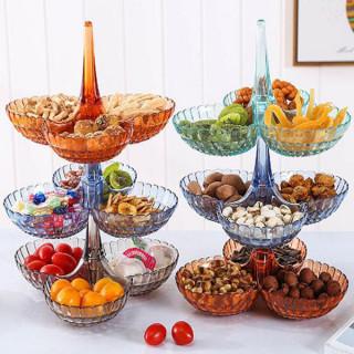 Elegantna trodelna činija za voće i slatkiše