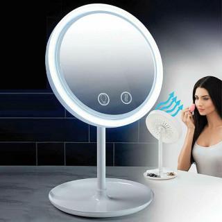 3u1 Make-Up ogledalo sa LED svetlom i ventilatorom