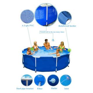 INTEX 28212NP Okrugli plavi bazen za porodicu 366 cm x 76 cm