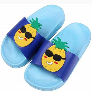 Plave papuče za decu sa dezenom ananasa