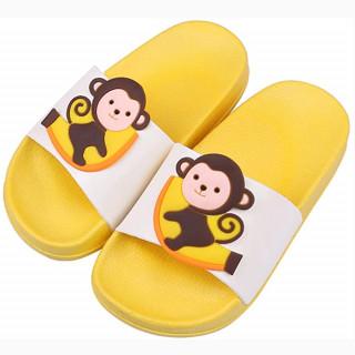 Žute papuče za decu sa dezenom majmuna