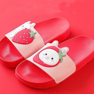 Crvene papuče za decu sa dezenom višnje