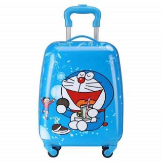 Dečiji kofer na točkiće ukrašen crtanim motivima