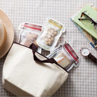 Set od 3 plastične teglice-vrećice za organizaciju začina i keksića