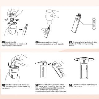 4u1 Prenosivi dozer za kozmetiku