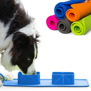 Dupla silikonska posuda za pse