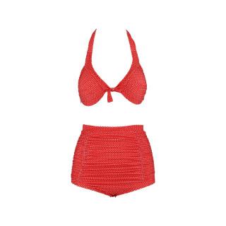 Dvodelni ženski kupaći kostim - RETRO DOT RED