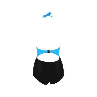 Jednodelni ženski kupaći kostim- 2TOP BLUE BLACK