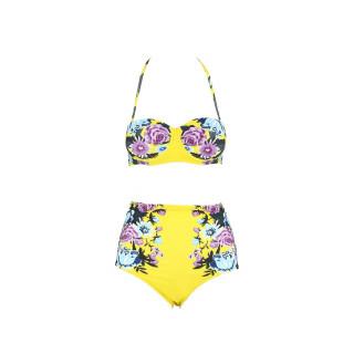 Dvodelni ženski kupaći kostim - RETRO FLOW YELLOW