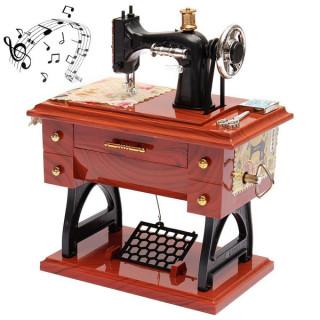 Vintage music box - Muzička kutija šivaća mašina
