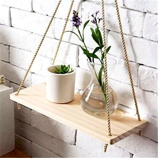 Wall Swing - Drvena viseća polica za dekoraciju zida cvećem ili suvenirima
