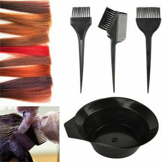Set za farbanje kose - 3 četkice i posuda za mešanje