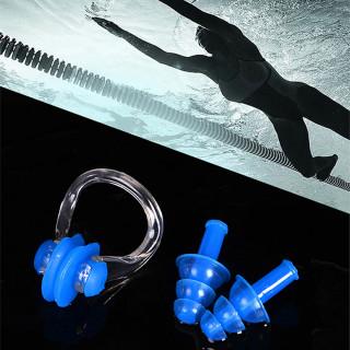 Set za plivanje-čepići za uši i štipaljka za nos