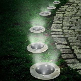 Disk Lights - Baštenske solarne disk ubodne lampe 4 kom