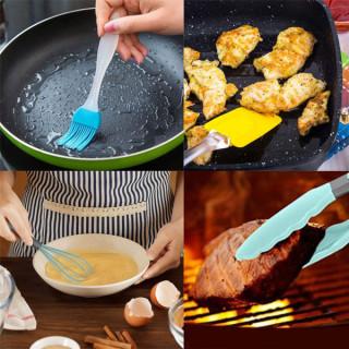4u1 kulinarski set - žica za mućenje, špatula, hvataljka i silikonska četkica