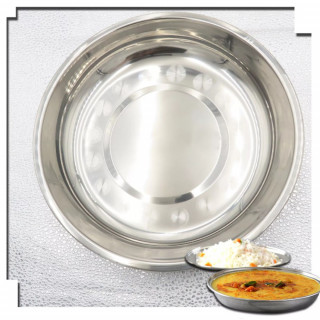 Oval Plate - Okrugli tanjir od nerđajućeg čelika