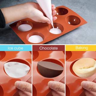 Silikonski kalup od 6 modli za kolače, žele, puding, čokoladu