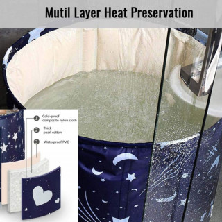 Prenosiva sklopiva kada sa izolacijom za održavanje temperature