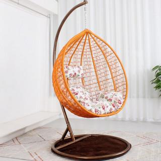 Garden Egg - Baštenska ljuljaška od imitacije ratana u obliku jajeta - ORANGE
