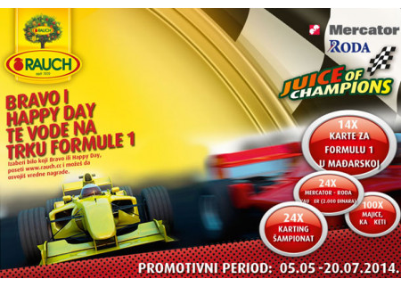 Bravo i Happy day te vode na trku Formule 1 !