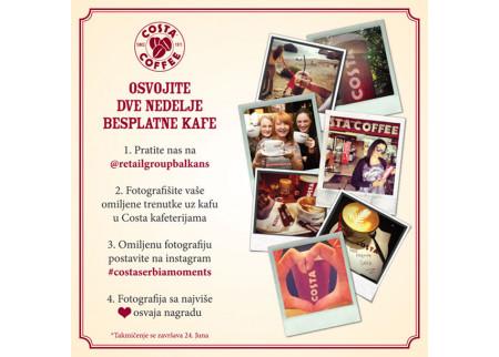 Osvojite 2 nedelje besplatne kafe u Costa Coffee!