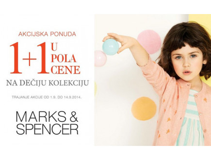 Popust na dečiju kolekciju u Marks and Spencer-u!