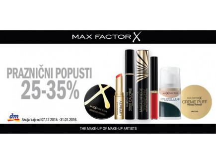 Max Factor - Praznični popust u DM-u!