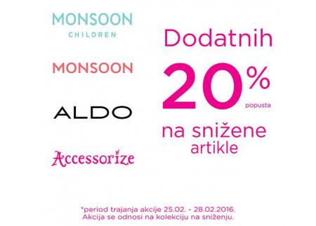 Snižene cene - Aldo, Accessorize, Monsoon