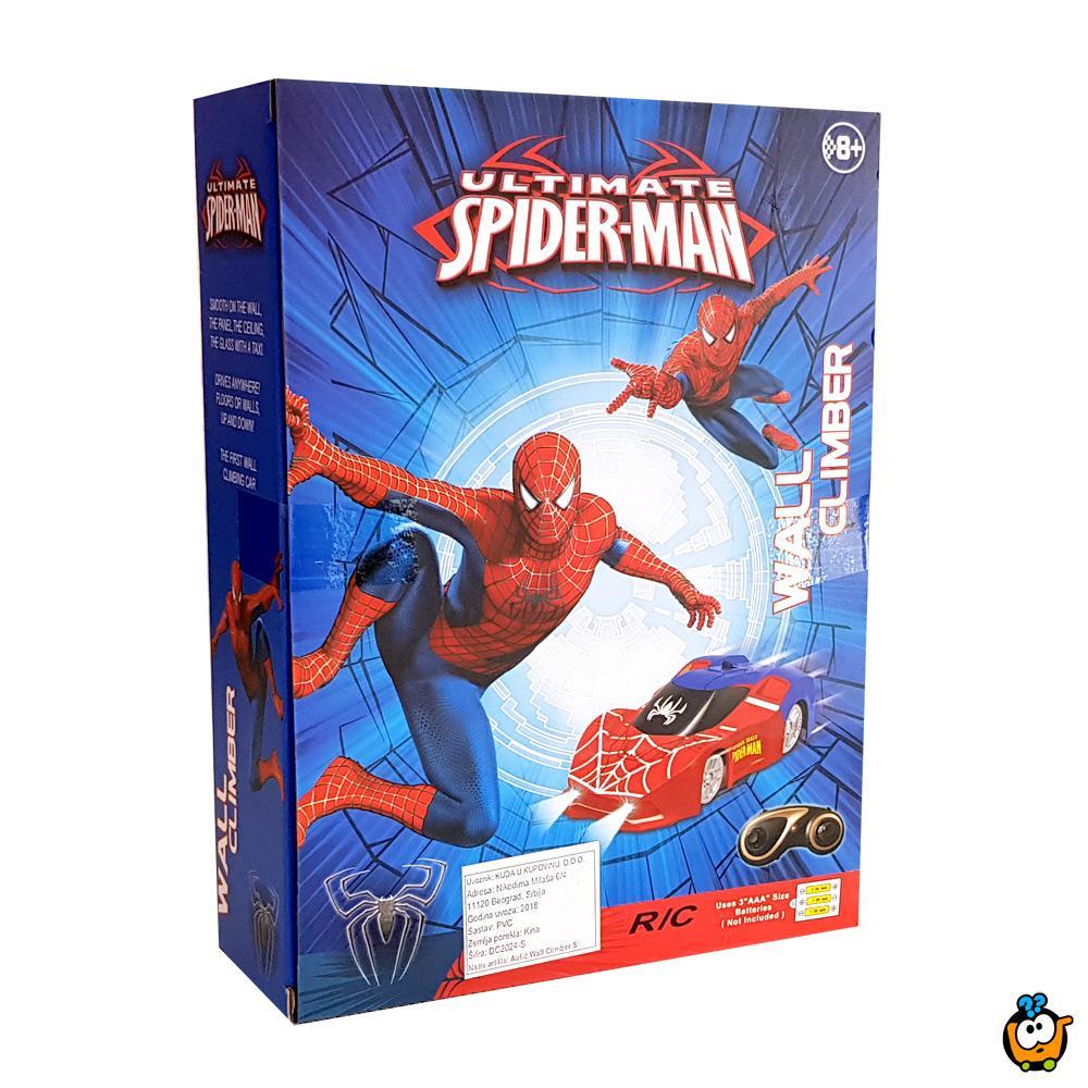 Wall Climber SPIDER-MAN magičan autić - Ide po zidovima i plafonima