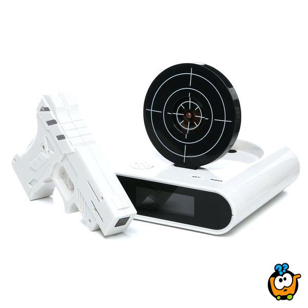 Gun Shooting Alarm Clock - Budilnik sa pištoljem i metom