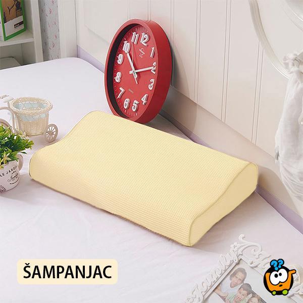 Anatomski jastuk od memorijske pene sa sendvič jastučnicom ŠAMPANJAC