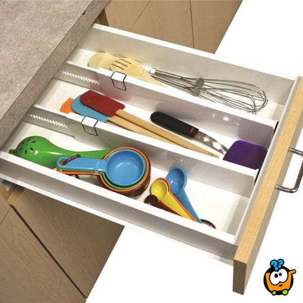 Drawer Divider - Set od 2 podesive pregrade za fioke