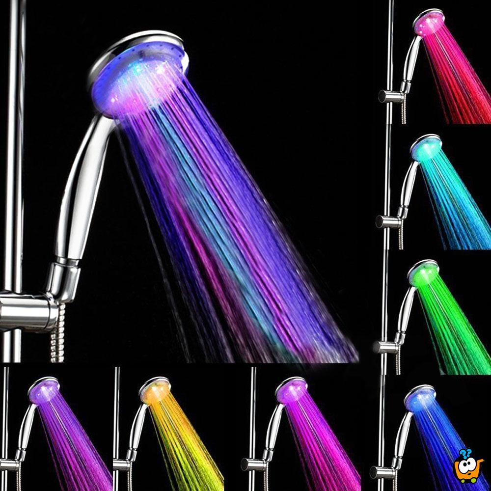 Tuš sa LED svetlima za tuširanje u boji