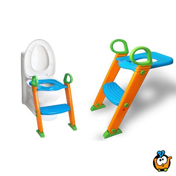 2 u 1 - Dečji adapter za WC šolju sa stepenikom