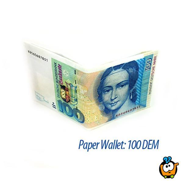 Paper Wallet - Papirni novčanik sa kreativnim printom