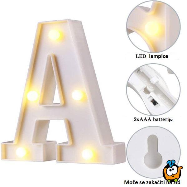 3D svetleće slovo