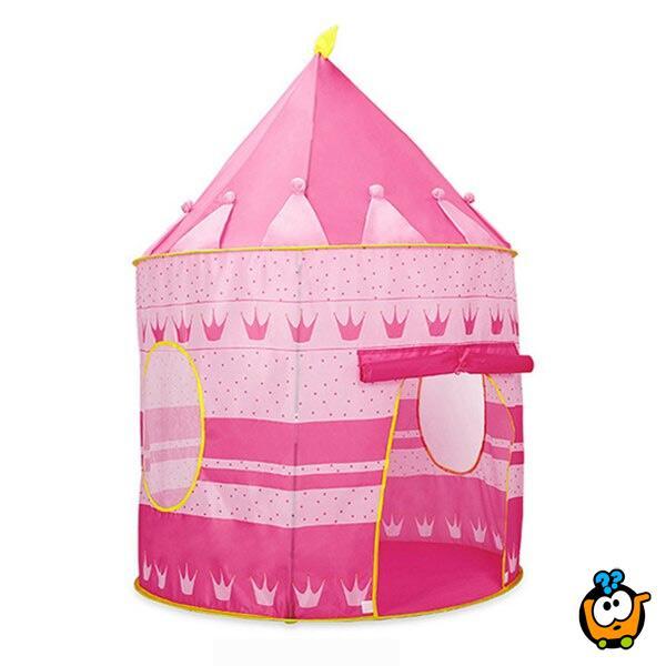 Šator igraonica za princeze u obliku dvorca