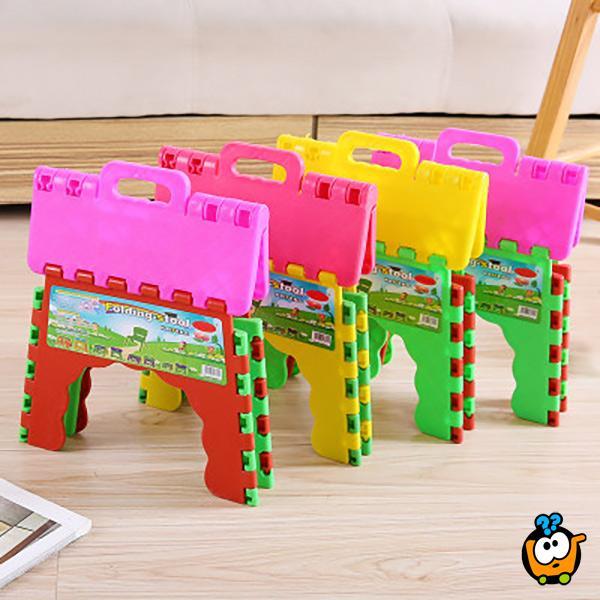 Praktična mini sklopiva stolica