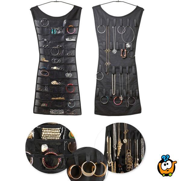 Haljina organizer za narukvice, mindjuše i ogrlice