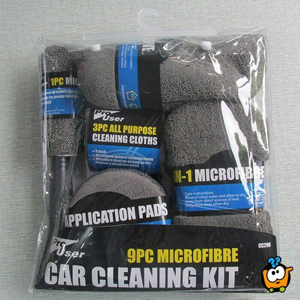 Devetodelni microfiber set za pranje kola