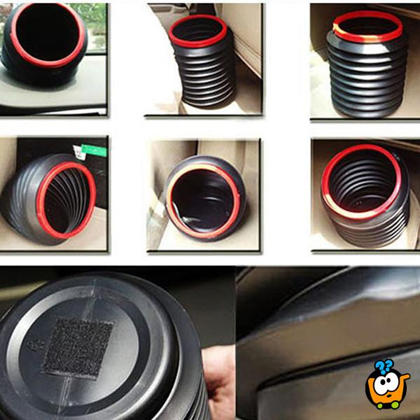 Prenosiva i sklopiva kantica za skladištenje stvari u autu