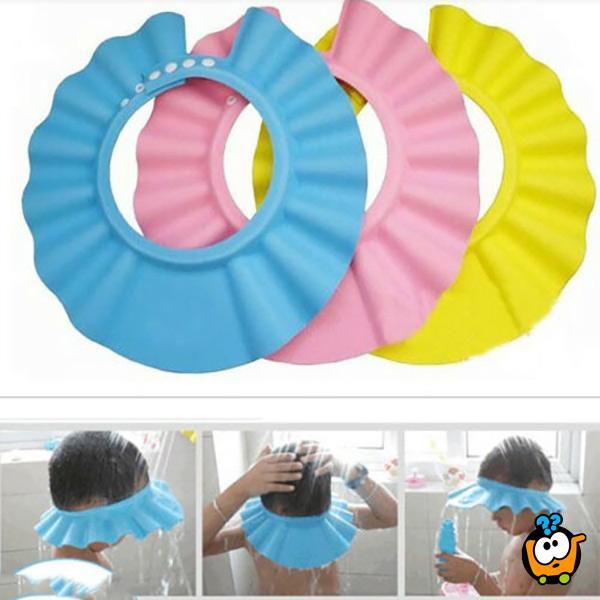 Štitnik za oči prilikom kupanja beba i dece