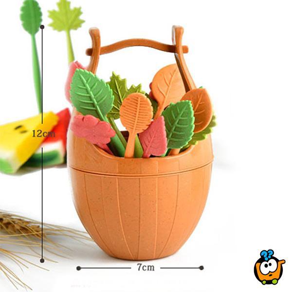 Set od 16 viljuškica u obliku biljkica napravljen od biorazgradivog materijala