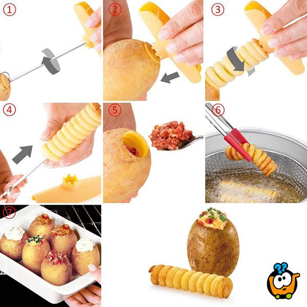 Spiral potato cutter - spiralni secko za mladi krompir