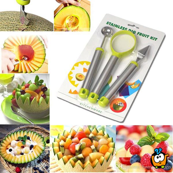 Kuhinjski set od 3 pomagala za ljuštenje voća i povrća
