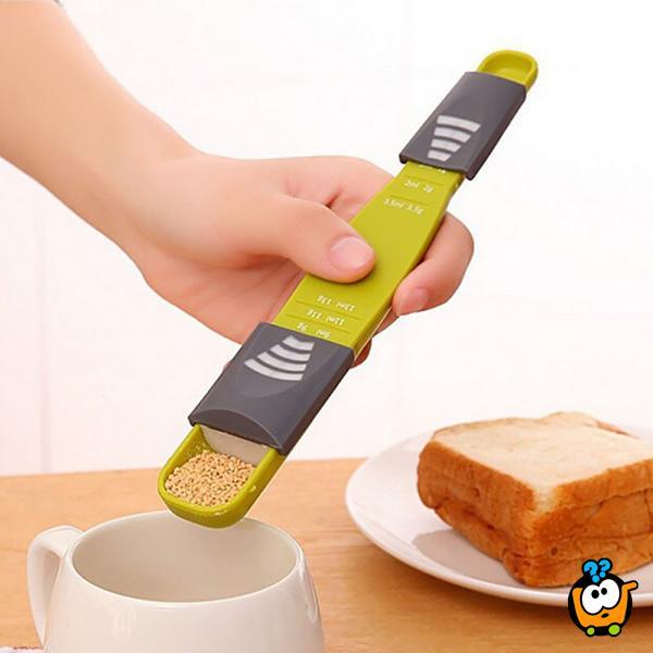 Podesiva kašika za merenje šećera, kafe i začina